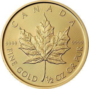 1/2 Oz Gold Maple Leaf (Random Year) - Royal Canadian Mint