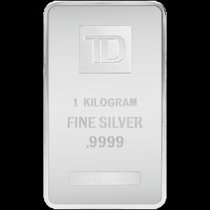 1 kg Silver Bar (Circulated) - TD Brand