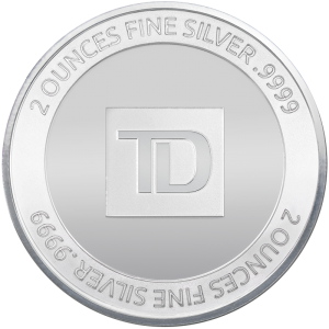 2 oz Silver Round (Circulated In Capsule) - TD Brand