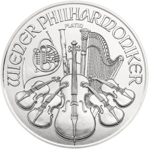2021 1 oz Platinum Philharmonic - Austrian Mint back