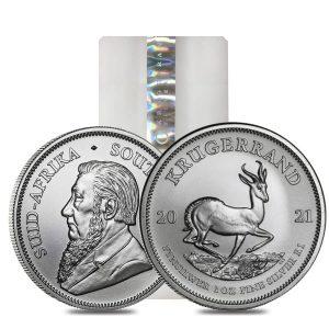 2021 1 oz silver krugerrand tube
