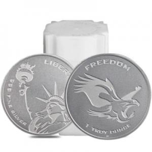 1 oz Silver Round Liberity Freedom Tube - Asahi Refining