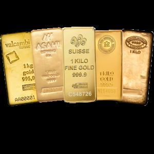 1 kilo assorted gold bar