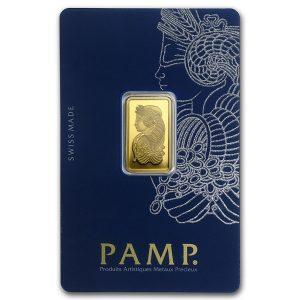 5 gram gold bar pamp suisse assay card front