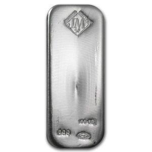 100 oz silver bar johnson matthey