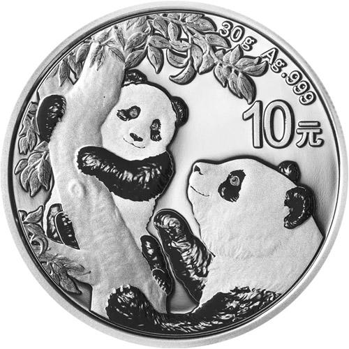 2021 30 gram chinese silver panda coin