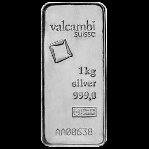 1 kilo silver bar - valcambi suisse