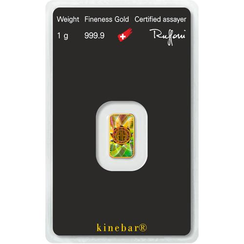 1 Gram Gold Kinebar(Holographic) - Argor-Heraeus