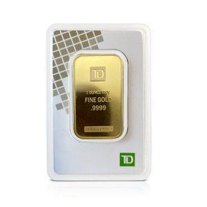 1 Oz Gold Bar (Inc. Assay Card) - TD Bank