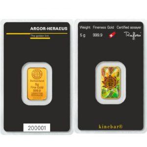 5 Gram Gold Kinebar(Holographic) - Argor-Heraeus