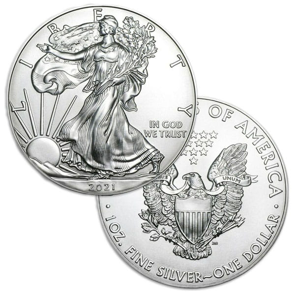 Gold & Silver Type 2 American Eagle Coins